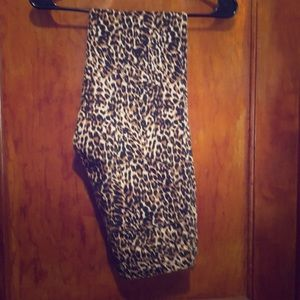 Leopard print thin pants